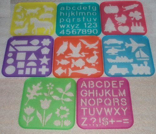 Tuppertoys Stencil Art Set 1987 Craft Hobby Toy