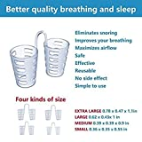 Elastic Anti-Snoring Nose Vent (4-Sets by 4-Different Size), Soft Nasal Dilator, Anti-Snoring Nose Devices Reducing Snore for Healthy Comfortable Sleep for Adult and Child