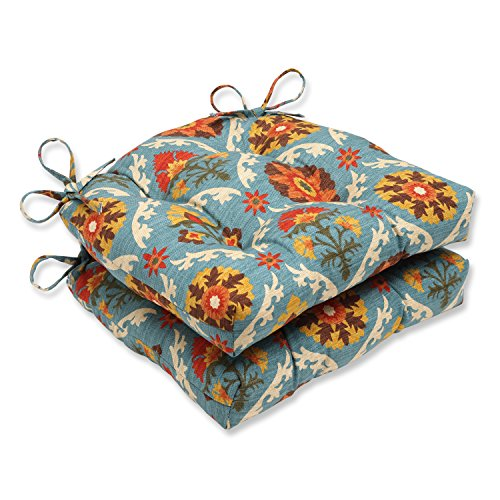 Pillow Perfect Mayan Medallion Reversible Chair Pad, Set of 2 (Chair Medallion Dining)