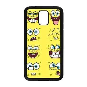 Cute Sponger Bob Various Expression White Samsung Galaxy S5 case