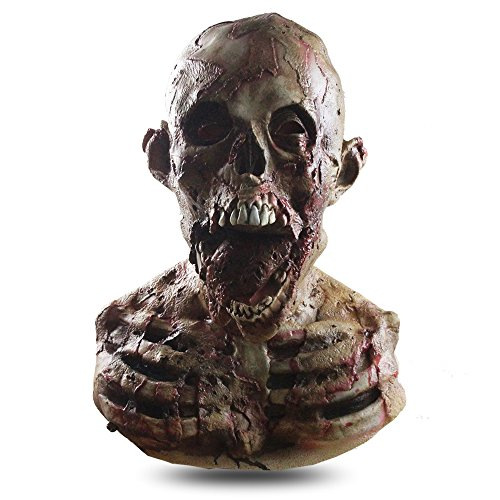 MostaShow Mummy Zombies Scary Latex Full Head Cosplay Costume Halloween Horror Masks (M01-19)