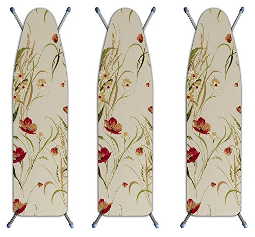 Laundry Solutions by Westex IBCAIE254POP 3-Layer Ironing Board Cover, Poppy (Pack of 3)