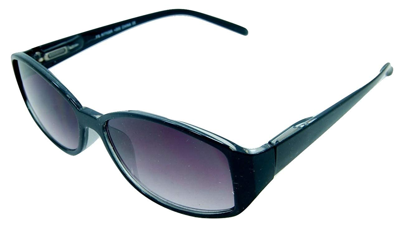 28af6c3eff2 Amazon.com  In Style Eyes Stylish Full Reader Sunglasses Black 1.50  Shoes