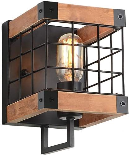 Anmytek Cube Wood Wall Lamp