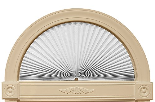 "Redi Shade 3607878 White, 72"" x 36"" Original Arch Sheer View Solar Fabric Shade, ()"