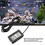 FTVOGUE Embedded Mini LCD Thermometer Hygrometer