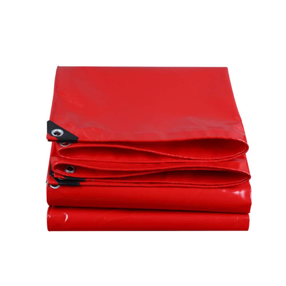 YNN - ターポリン ターポリン耐水重義務 - ユニバーサルタールシート - 550gramm /平方メーター製の高級品質カバーターポリン (色 : Red, サイズ さいず : 6*8m) 6*8m Red B07KFD8VFP
