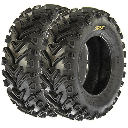 SunF 24x8-12 24x8x12 All Terrain Mud ATV UTV Tires 6 PR A041 (Set pair of 2) by SunF (Image #1)