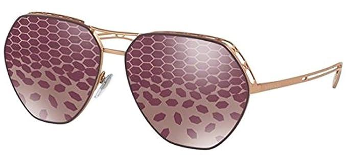 Bvlgari 0Bv6098 2032H5 61, Gafas de sol para Mujer, Dorado ...