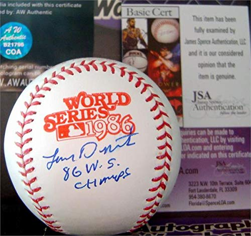 Lenny Dykstra autographed 1986 World Series baseball inscribed WS Champs (OMLB New York Mets) JSA authentication certificate