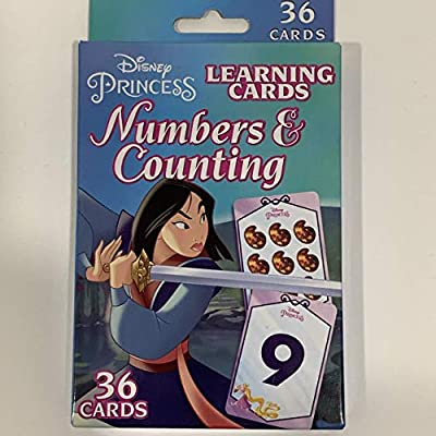 Disney Four Pack of Flash Cards Bundle Disney Princess Addition Subtraction Numbers Counting Multiplication Learning Cards 36 Cards Each Set Ariel Merida Jasmine Mulan: Toys & Games