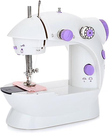 Mini máquina de coser con botón automático de control de velocidad ...