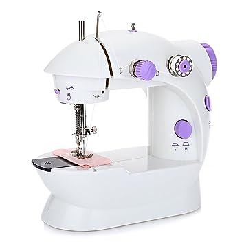 Mini máquina de coser con botón automático de control de velocidad de máquina de coser de hilo para automático Pedal LED Light: Amazon.es: Hogar