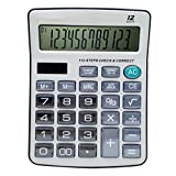 ZHAS Calculators for Office/Business/Family Desktop Calculator, Steps Check and Correct,Crystal button with12-Digit Powered Office School Home Supplies