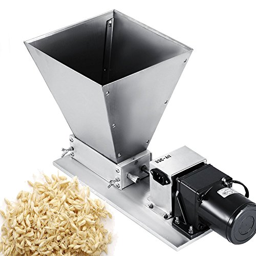 VEVOR Grain Grinder Homebrew Malt Miller 2 Roller Malt Grain Mill Stainless Steel Barley Mill Crusher Malt Mill Hombrew Electric 2 roller malt mill