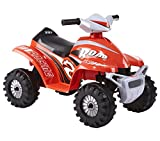 ROLLPLAY Mini Electric Quad Bike, For Children 1.5 Years and Older, Up to 18 kg, 6-Volt Battery, Up to 2 km/h, Rollplay 6V Mini Quad, Red