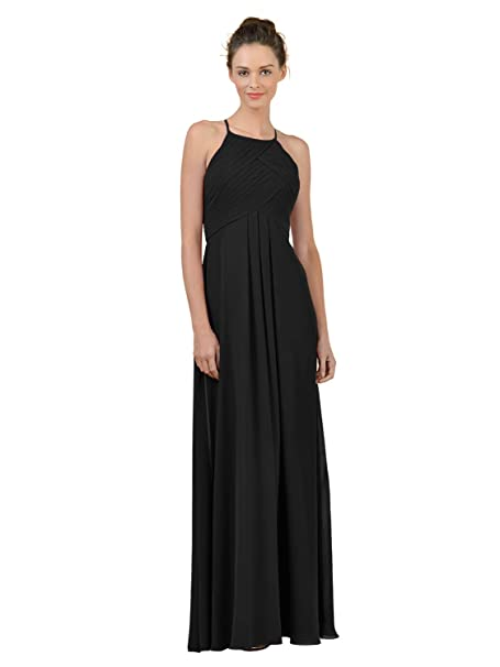 Alicepub Long Chiffon Bridesmaid Dress Maxi Evening Gown A Line Plus Party  Dress