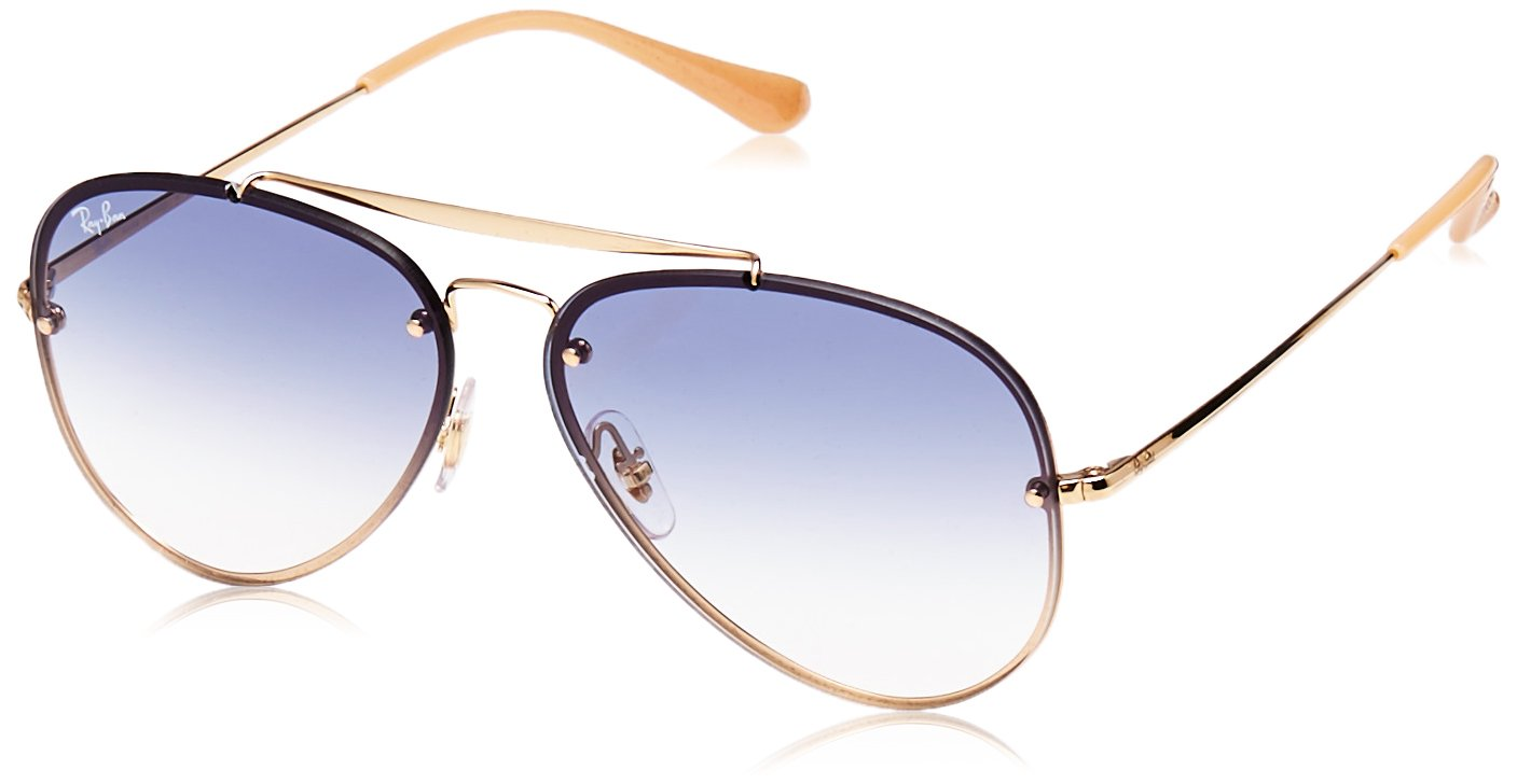 Ray-Ban 0rb3584n001/1961blaze Aviator Sunglasses, Gold, 61 mm