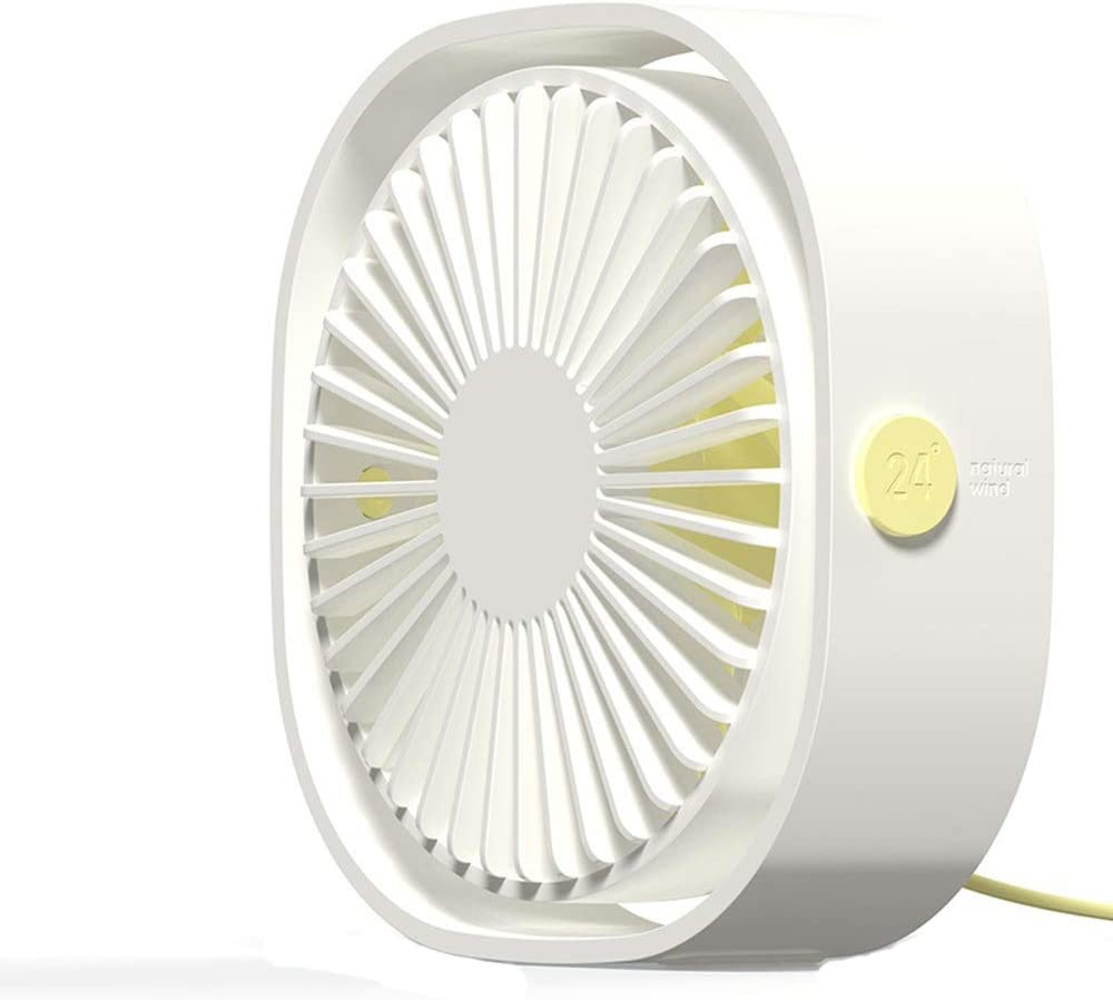 Zxcvlina Portable Personal USB Fan Small Fan 3 Speed Personal Desk Portable Mini Table Fans with USB Powered Quiet Fan for Home Office Outdoor Travel Color : White, Size : One-Size