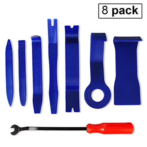 Antfire Auto Trim Removal Tool Kit, 8Pcs Auto Trim Upholstery Removal Tool Kit Fastener Remover Tool Kit for Car Dash Audio Radio Door Panel