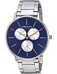 Kenneth Cole New York Mens Sport Quartz Stainless Steel Dress Watch, Color:Silver-Toned (Model: KC14946008)