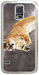 Animals & Birds Mountain-Lion Cases for Samsung Galaxy S5 I9600 with Transparent Skin