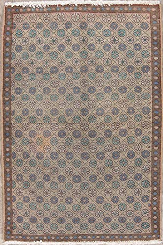 One-of-a-Kind Brown Mahal Wool Persian Faded Hand Knotted Oriental 3x5 Vintage Area Rug Rug (4' 9