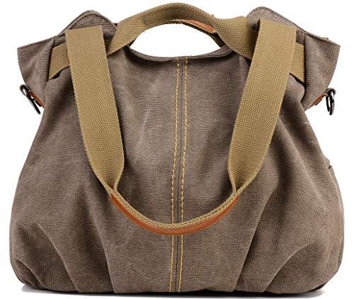 Z-joyee Women's Ladies Casual Vintage Hobo Canvas Daily Purse Top Handle Shoulder Tote Shopper Handbag Satchel ()
