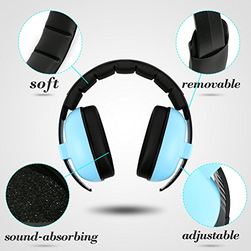 Baby Headphone Noise Reduction - Noise Cancelling HeadPhones for Babies and Toddlers - Ages 3-24+ Months - Infant Hearings Protection Earmuffs - Baby Ear Protection