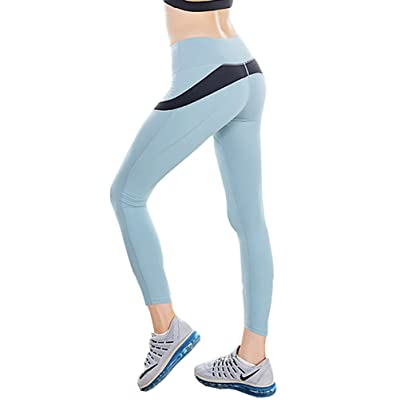 1Bests Women's Mesh Panel Yoga Capri Pants Sport Running Exercise Cool Dry Stretchy Tights