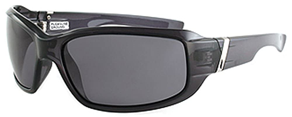 38f5b94f0a Amazon.com  Pleasure Ground Eyewear Polarized Link Sunglasses CLOSEOUT  Crystal Black  Clothing