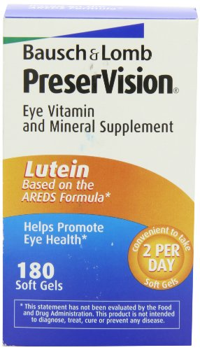 Bausch & Lomb Preservision Eye Vitamin and Mineral Supplement with Lutein - 180 ()
