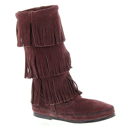 Boot Raisin Fringe Layer Minnetonka Women's Three xfIXq6nwAZ