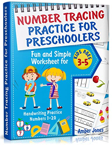 Number Tracing Practice for Preschoolers: Fun and Simple Worksheet for Kids Ages 3-5. Handwriting Practice Numbers 1-20 (Best Calendar Printing Service)