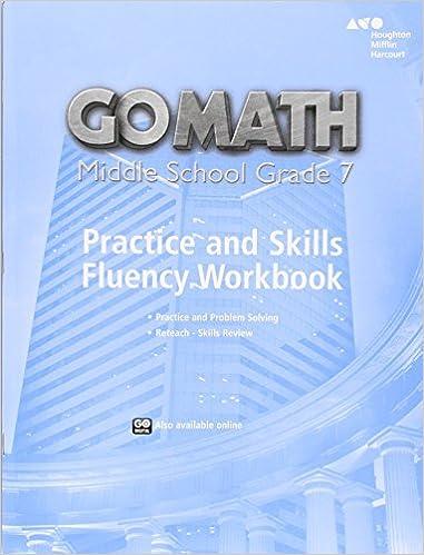 Go Math!: Practice Fluency Workbook Grade 7: HOUGHTON