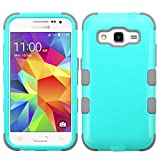 MyBat Cell Phone Case for Samsung G360 (Prevail LTE)/Galaxy Core Prime - Retail Packaging - Gray/Green/Teal
