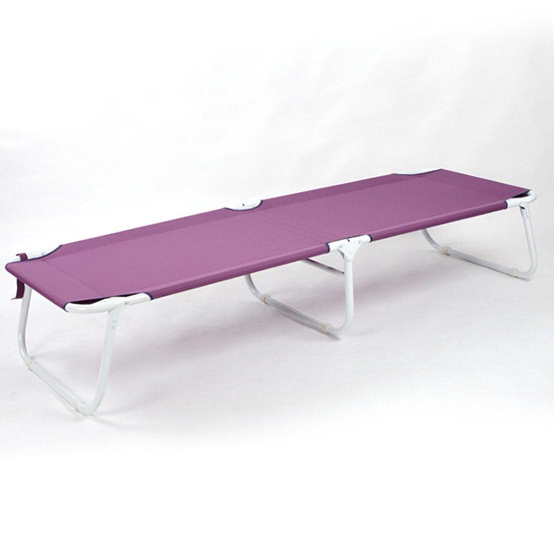 JJY Office Nap Klappbetten Einzel mit Matratze Liegestuhl Wasserdichte Oxford Tuch Einfache Freizeit,lila