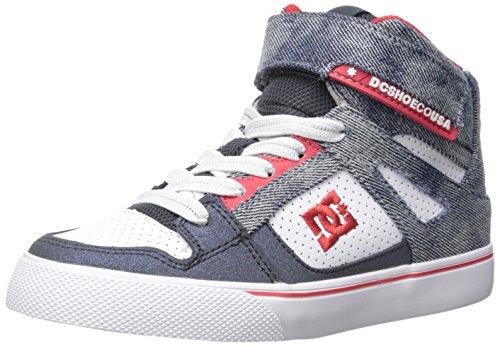 DC Boys' Spartan High SE EV, Black/Red/Grey, 2 M US Little Kid - Dc Shoes High For Kids