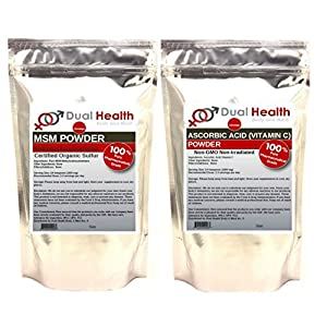 1 BAG OF EACH (1 kilogram (2.2 lb)) Ascorbic Acid (Vitamin C) & MSM (Methylsulfonylmethane)…