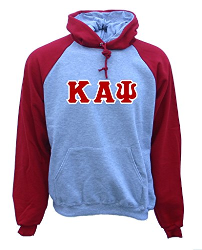 Mega Greek Mens Kappa Alpha Psi Color Block Hooded Sweatshirt Medium Red Alpha Kappa Alpha Sweater