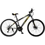 """Uenjoy 27.5"""" Mountain Bike 21 Speed Hybrid Bicycle for Adult Front Fork & Shimano Derailleur & Disc Brake in 4 Color"""