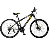Murtisol Mountain Bike 27.5'' Men's and Women's Bike 21 Speeds Fast Hybrid Bicycle Shimano Derailleur Double Disc Brake Suspension 4 Color