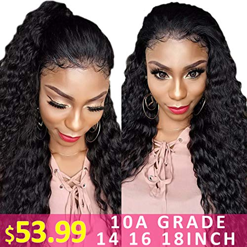 10A Grade Water Wave Bundles 14 16 18 Brazilian Remy Wet and Wavy Hair Extensions Virgin Curly Weave Human Hair 3 Bundles 1B Natural Black Color (Best Hair Products For Wet And Wavy Weave)