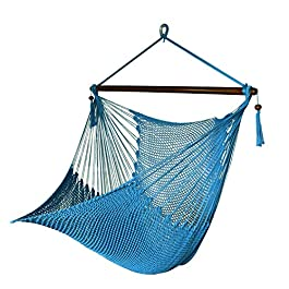 Bathonly Large Caribbean Hammock Hanging Chair wit...