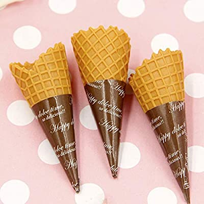 12PCS Simulation Ice Cream Cone Funny DIY Food Toys Kids Toy Accessories: Everything Else
