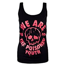 Fall Out Boy Vest The Poisoned Youth band logo Official Womens New Skinny Fit
