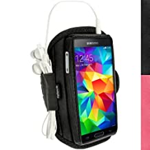 iGadgitz Water Resistant Black Sports Jogging Gym Armband for Samsung Galaxy S5 SV SM-G900