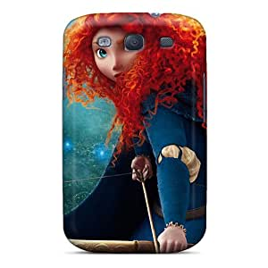 Galaxy S3 Hard Back With Bumper Silicone Gel Tpu Case Cover Brave's Princess Merida