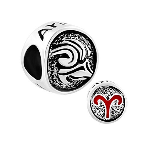 Lilyjewelry Lucky Aries Horoscope Bead Charm For Bracelets