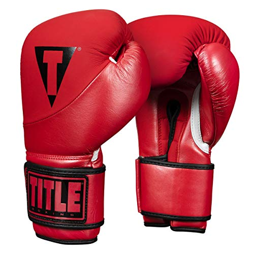 Title Boxing Cyclone Leather Bag Gloves, Red, 12 oz